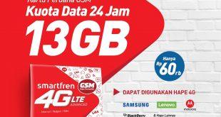 Beli Perdana 4G GSM, Bonus Kuota 13 GB perbulan 9