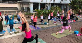 Peduli Kanker, Urban Athletes Meriahkan dengan Sunrise Yoga 6
