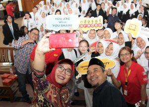 Tingginya Penggunaan Medsos, Indosat Lakukan Sosialisasi Bijak Bersosmed 1