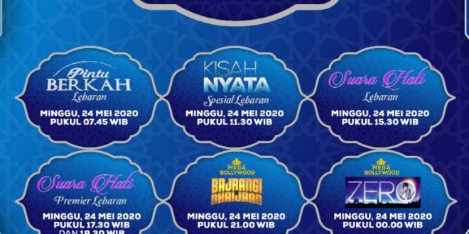 Deretan FTV Spesial Hingga Mega Bollywood Hadir Selama libur lebaran di Indosiar 7