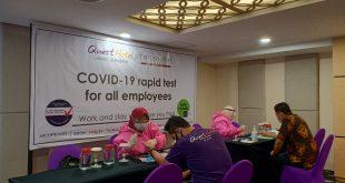 Tingkatkan Kualitas Layanan, Quest Hotel Darmo Surabaya Gelar Rapid Test Semua Karyawan 1